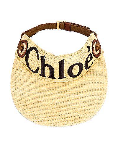 Złoty daszek vintage z haftem Chloe