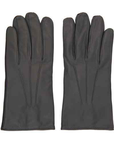 Czarne rękawiczki wełniane Paul Smith
