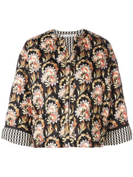 Шелковый пиджак на молнии Oscar De La Renta