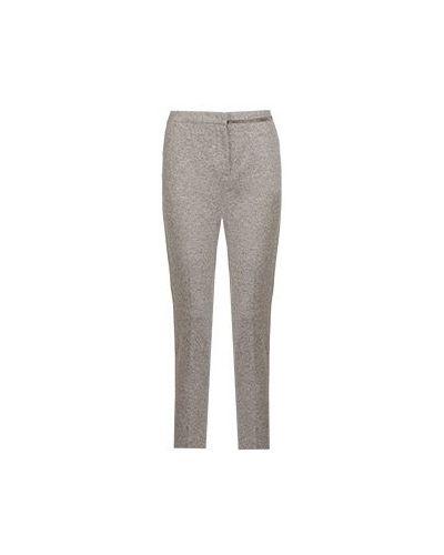 Зауженные шерстяные серые брюки Fabiana Filippi
