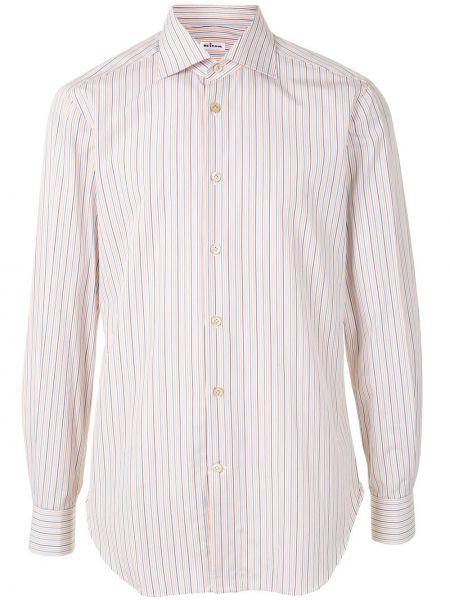 Koszula z długim rękawem w paski z paskami Kiton