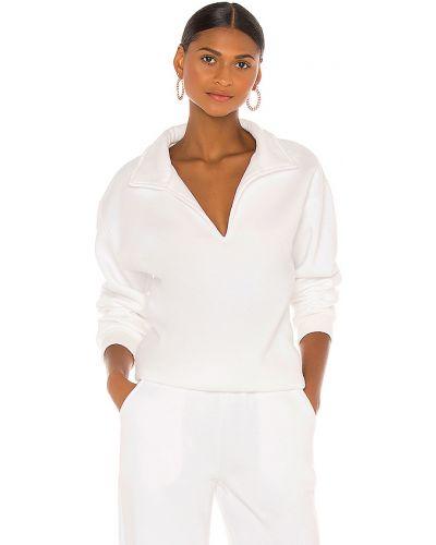 Bawełna biały włókienniczy bluza z dekoltem Atoir