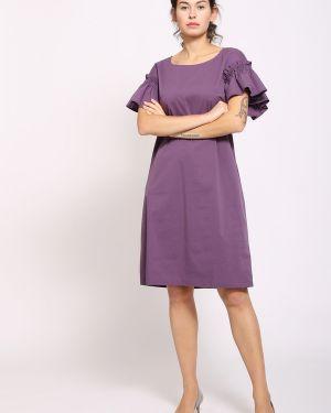 Хлопковое платье - фиолетовое Just Valeri