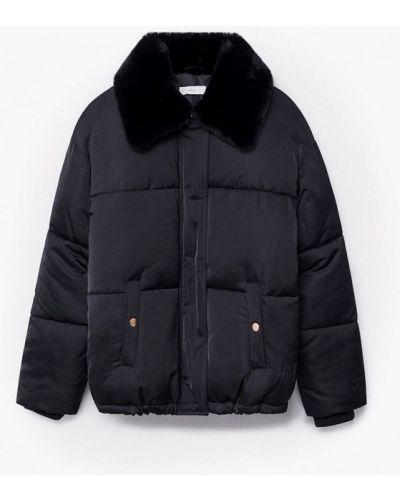 Утепленная черная куртка Mango Kids