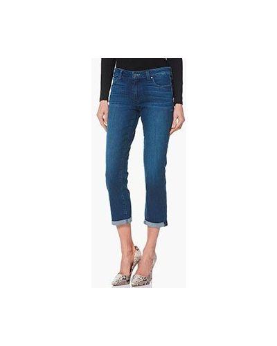 Укороченные джинсы синие Paige