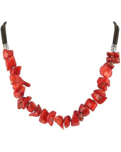 Ожерелье с камнями - красное Nature Bijoux