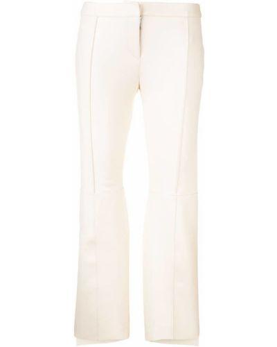 Укороченные брюки расклешенные белые Alexander Mcqueen
