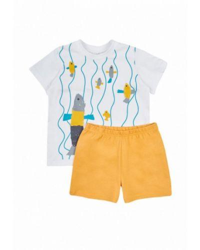Пижама белая желтый Garnamama