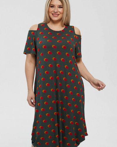 Зеленое повседневное платье Luxury Plus