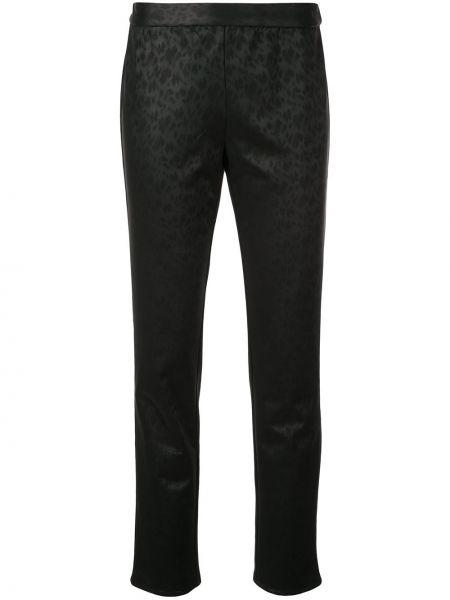 С рукавами черные укороченные брюки с поясом круглые Natori