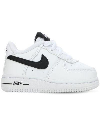 Skórzany ażurowy biały sneakersy na sznurowadłach Nike