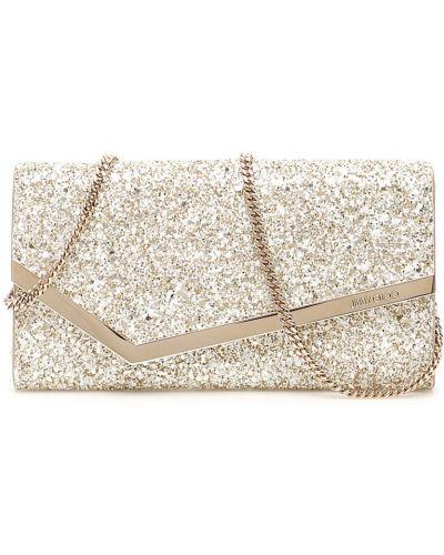 Biała złota kopertówka Jimmy Choo