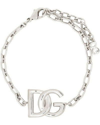 Szara bransoletka łańcuch Dolce And Gabbana