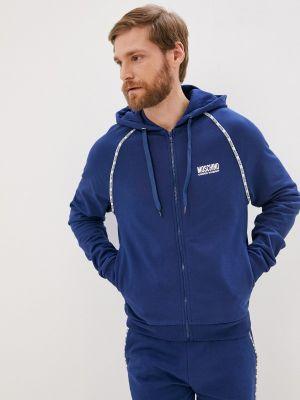 Синяя толстовка Moschino Underwear