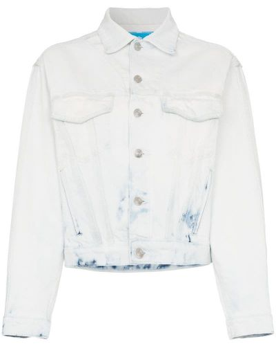 Джинсовая куртка укороченная на пуговицах Jordache
