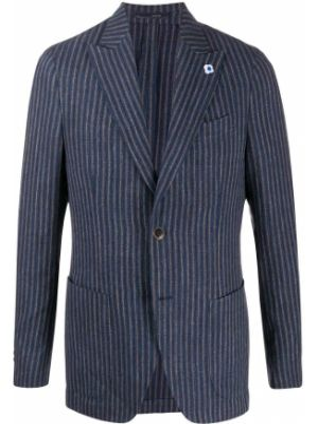 Пиджак в полоску с лацканами Lardini
