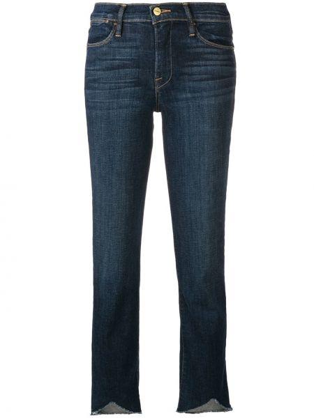 Расклешенные укороченные джинсы на пуговицах с поясом в стиле бохо Frame
