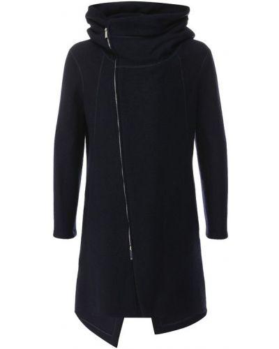 Пальто с капюшоном шерстяное Emporio Armani