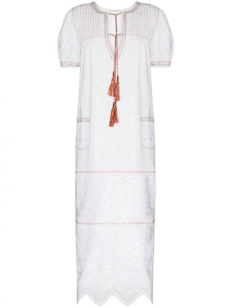 Платье миди с вышивкой деловое Vita Kin