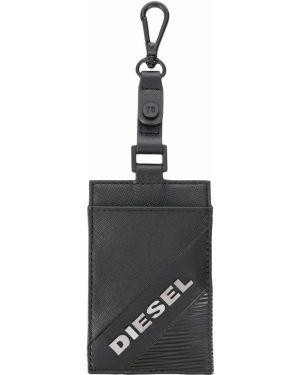 Брелок серебряный черный Diesel