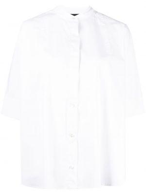 Белая рубашка с короткими рукавами оверсайз Roberto Collina