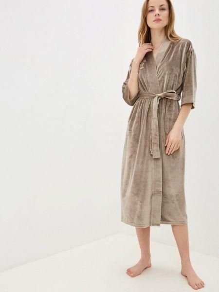 Домашний халат - бежевый Lelio