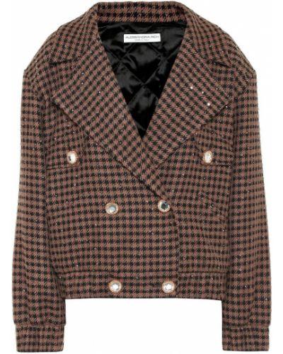 Ватная коричневая куртка с пайетками Alessandra Rich