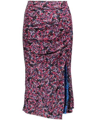 Нейлоновая юбка миди с сеткой сетчатая Diane Von Furstenberg