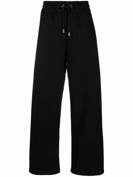 Черные хлопковые спортивные брюки Gcds