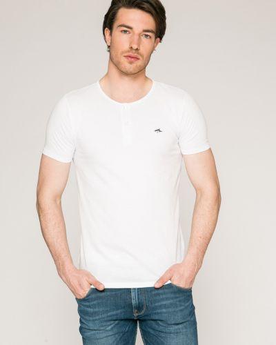Белая футболка однотонная Le Shark