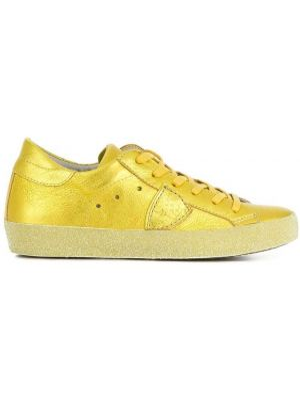 Кожаные кроссовки - желтые Philippe Model