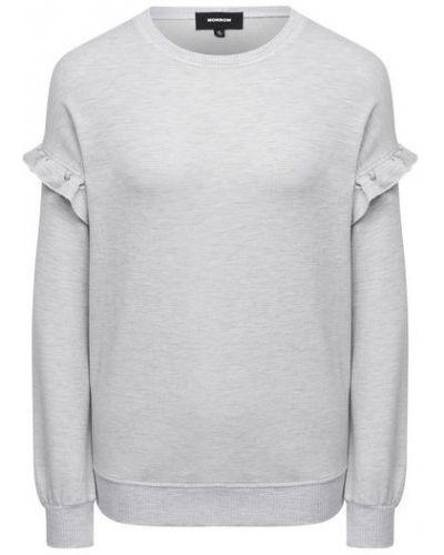 Хлопковый серый свитшот Monrow