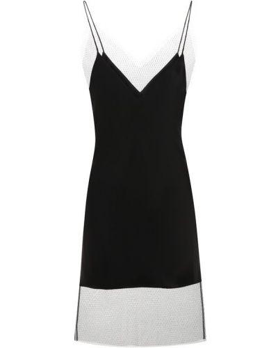 Платье шелковое черное Walk Of Shame