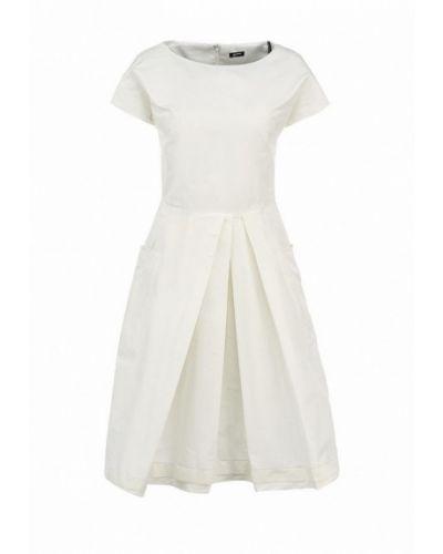 Белое повседневное платье Jil Sander Navy