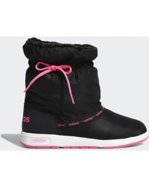 Теплые черные зимние ботинки из искусственного меха Adidas