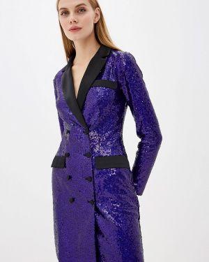 Вечернее платье осеннее фиолетовый Self Made