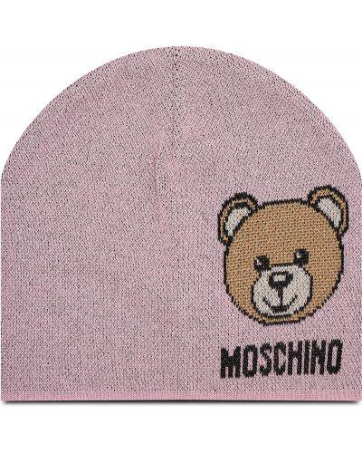 Różowa czapka Moschino