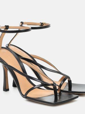 Кожаные туфли на шнуровке жёлтые Bottega Veneta
