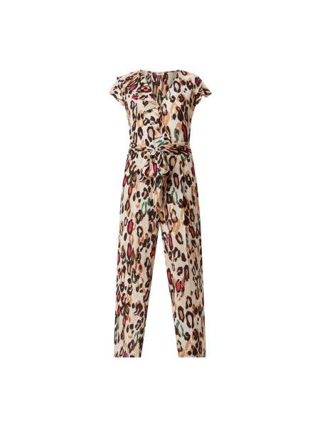 Beżowy kombinezon krótki rękaw z wiskozy Liu Jo Jeans