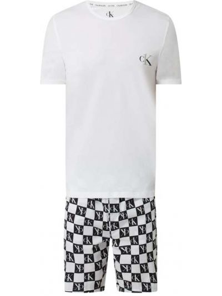 Piżama zapinane na guziki - biała Calvin Klein Underwear
