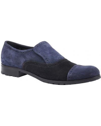 Синие туфли замшевые Armani Collezioni