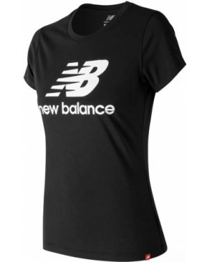 Хлопковая повседневная футбольная черная футболка New Balance