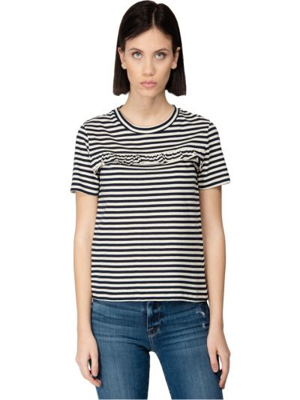 T-shirt w paski bawełniany krótki rękaw Jucca