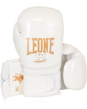 Białe rękawiczki skorzane Leone 1947