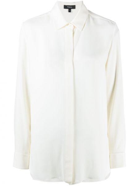 Рубашка с воротником айвори с манжетами на пуговицах Theory