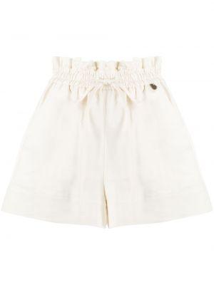 Белые короткие шорты с карманами Twin-set
