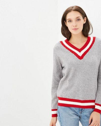 Пуловер серый Zeza