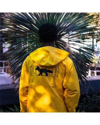 Желтая куртка из полиэстера Puma