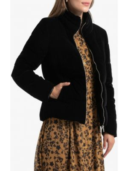 Стеганая куртка с карманами велюровая La Redoute