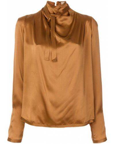 Блузка с запахом шелковая Maison Flaneur